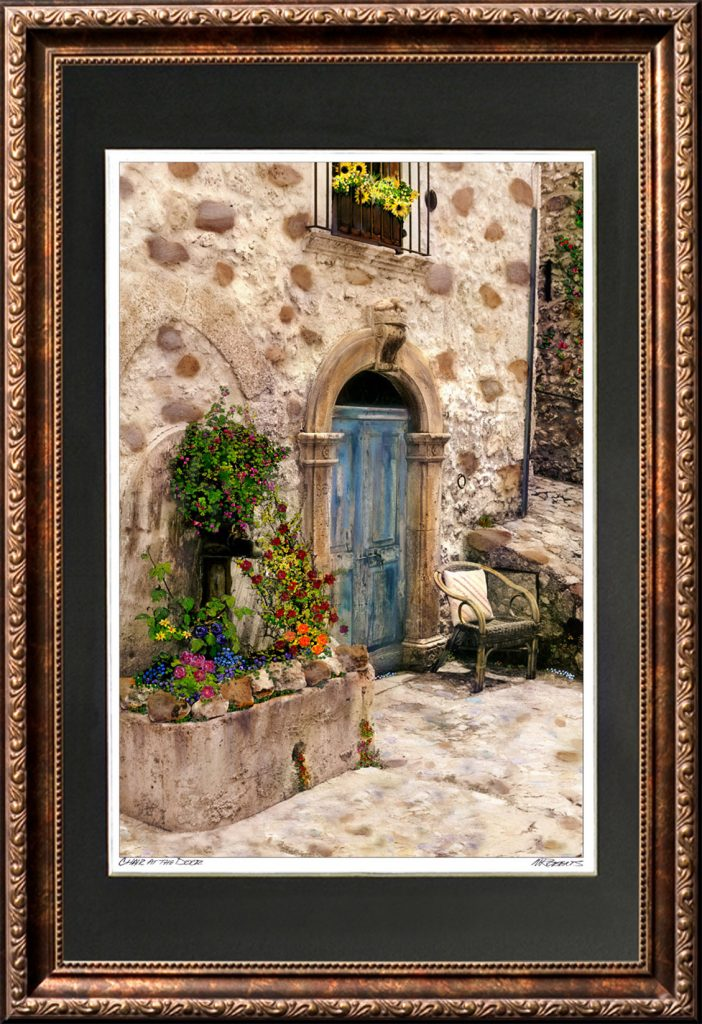 Chair at the Door Framed Print