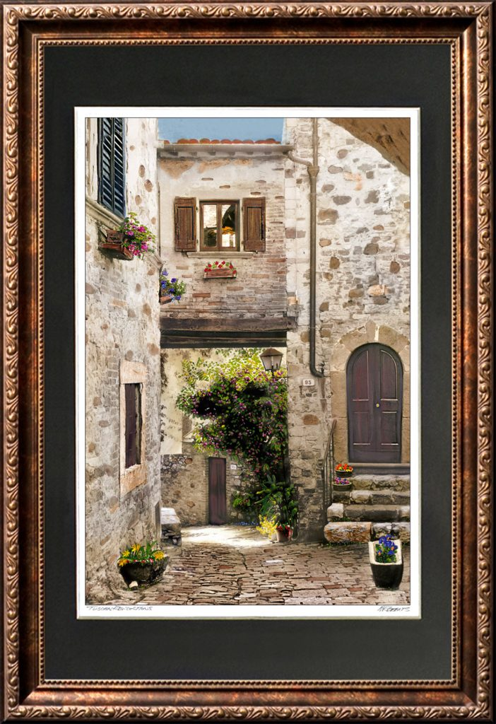 Tuscan Reflections Framed Print
